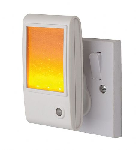 Firstlight 8372AM White with Amber LED LED Sparkle Night Light